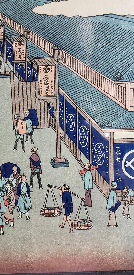 Fine Woodblock by Ando Hiroshige (Japanese, 1797-1858) - 9