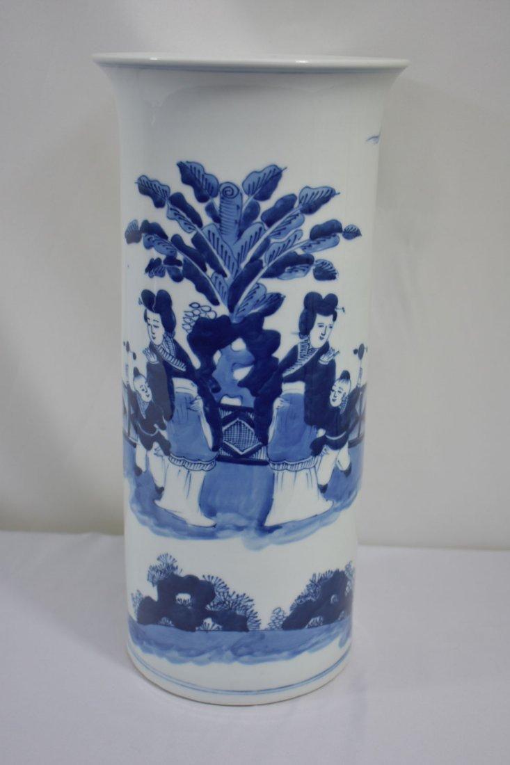 Chinese Blue & White Vase Kangxi Mark 19 C