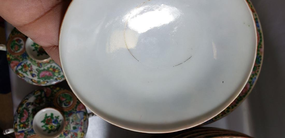 Lot of 121 pcs of Chinese famille rose dishes - 10