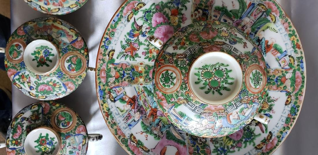 Lot of 121 pcs of Chinese famille rose dishes - 9