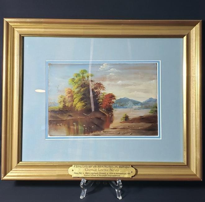 Signed George Loftus Noyes Landscape Painting