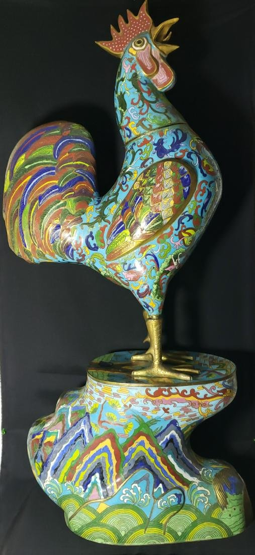 A fine Large Chinese Cloisonne Enamel Rooster