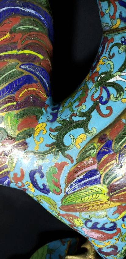 A fine Large Chinese Cloisonne Enamel Rooster - 4