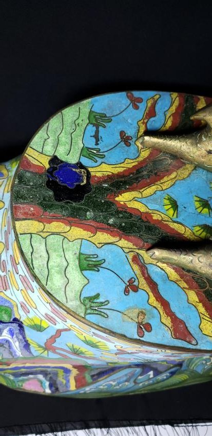 A fine Large Chinese Cloisonne Enamel Rooster - 8