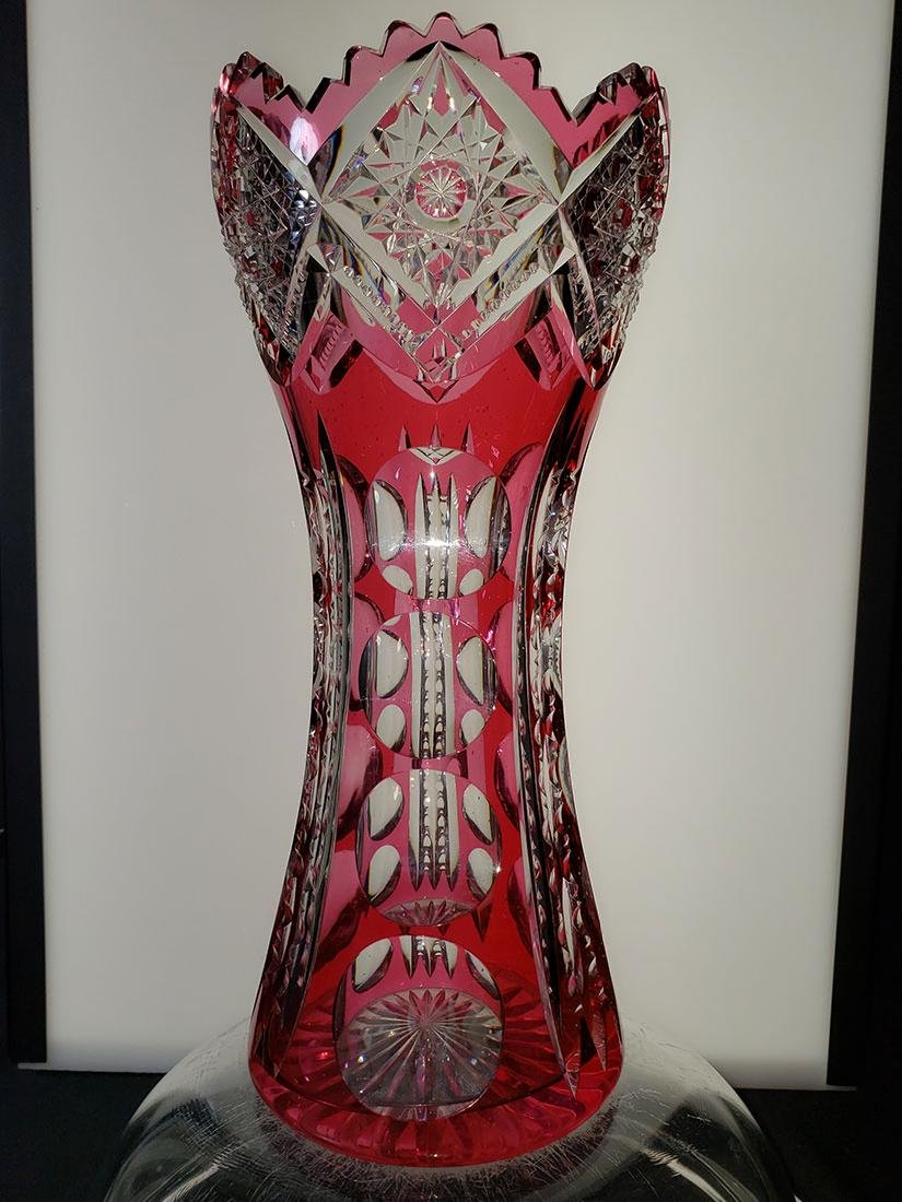 American Brilliant Period cut glass vase 19 c - 2
