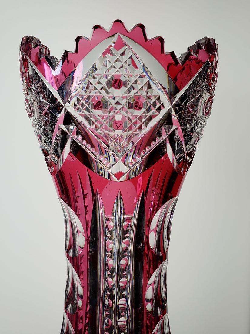 American Brilliant Period cut glass vase 19 c - 6