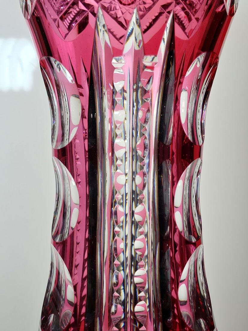 American Brilliant Period cut glass vase 19 c - 8