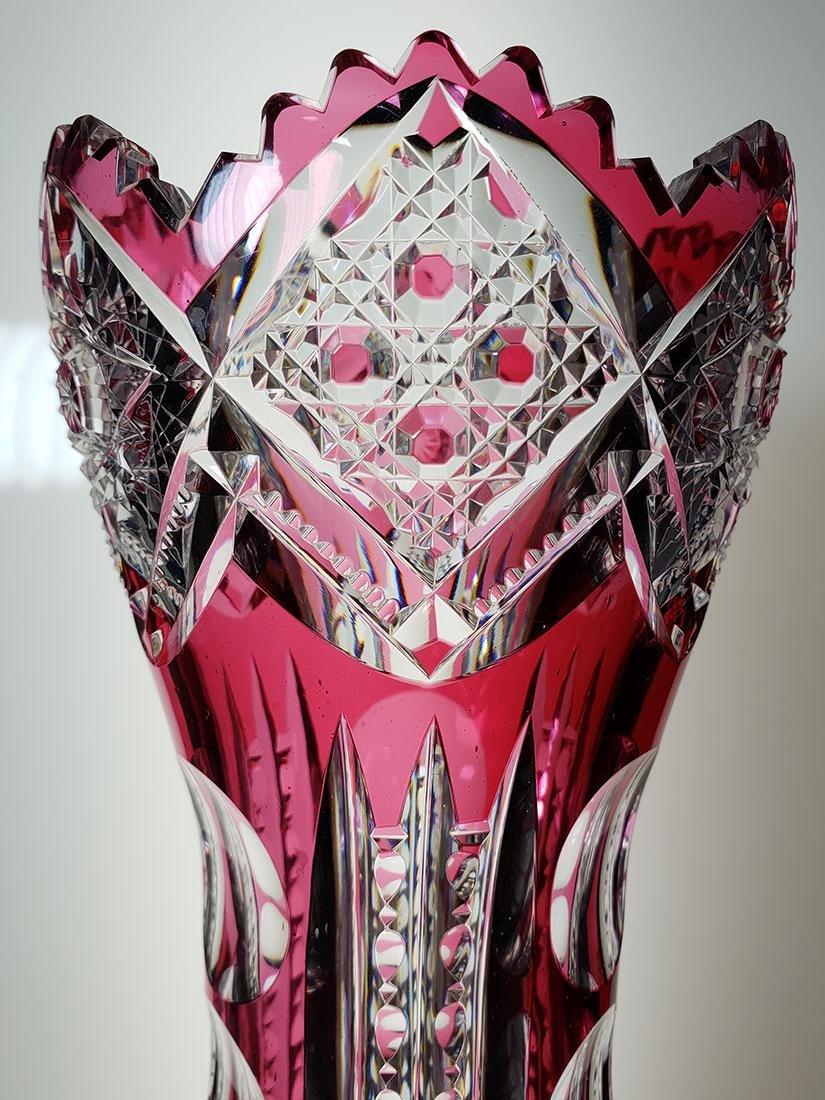 American Brilliant Period cut glass vase 19 c - 9