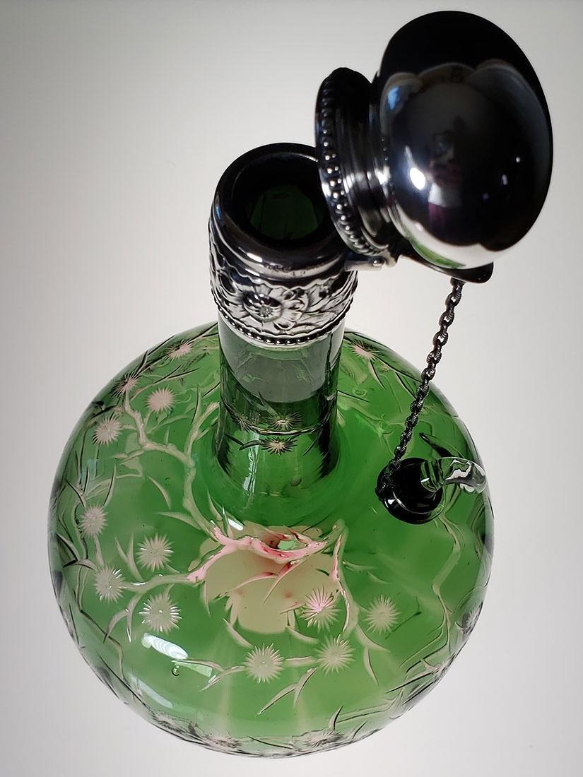 ABP 2 color cut glass chain decanter Stevens & Williams - 2