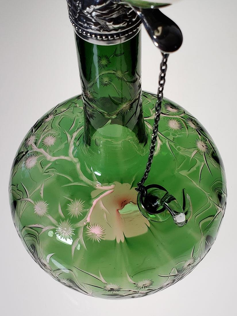 ABP 2 color cut glass chain decanter Stevens & Williams - 4