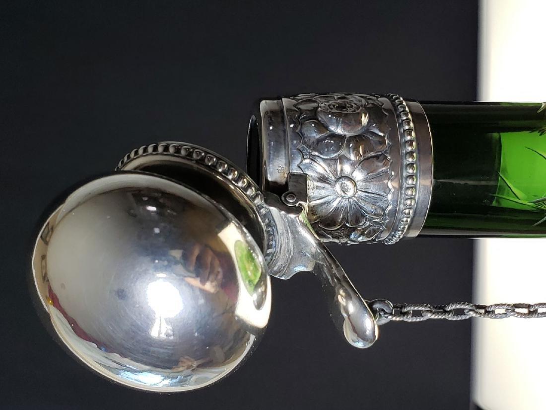 ABP 2 color cut glass chain decanter Stevens & Williams - 9
