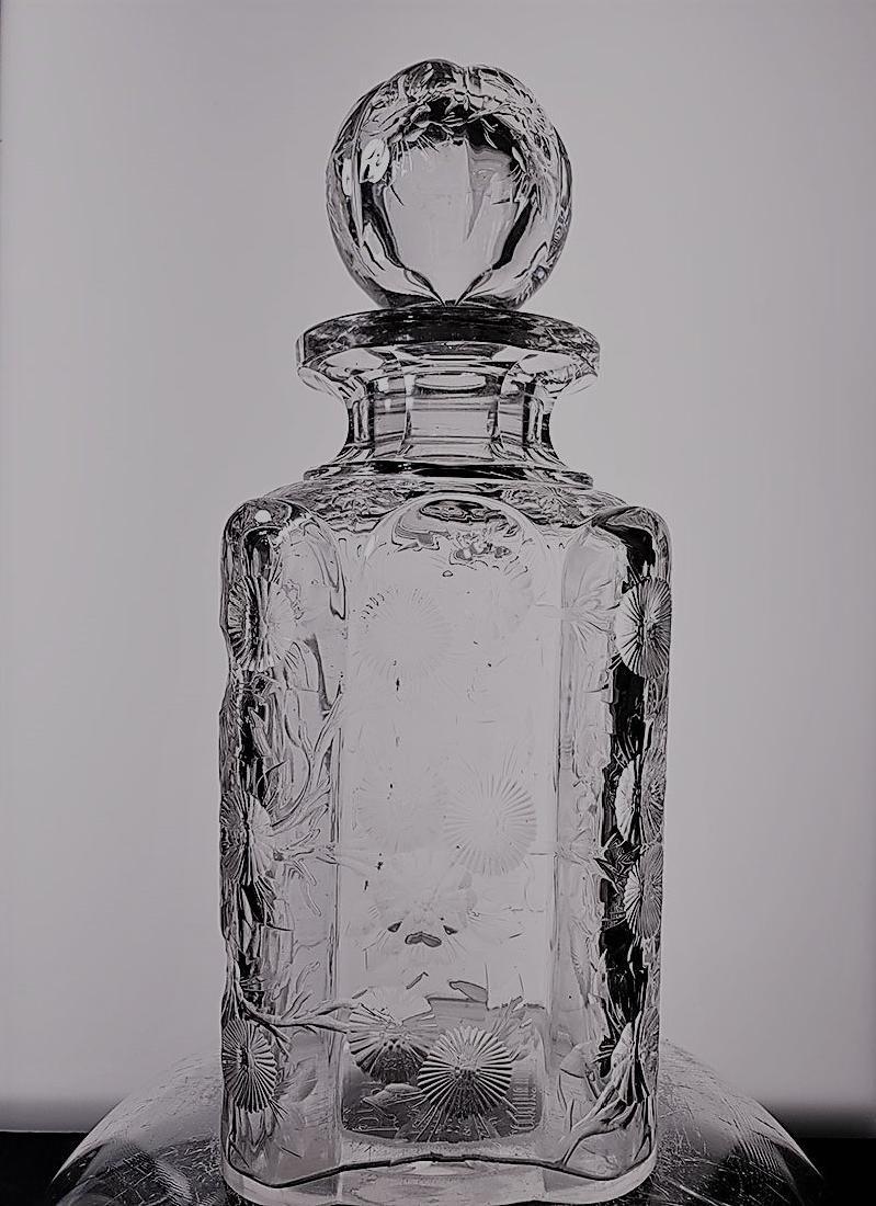 American Brilliant Period cut glass decanter ? Hoare