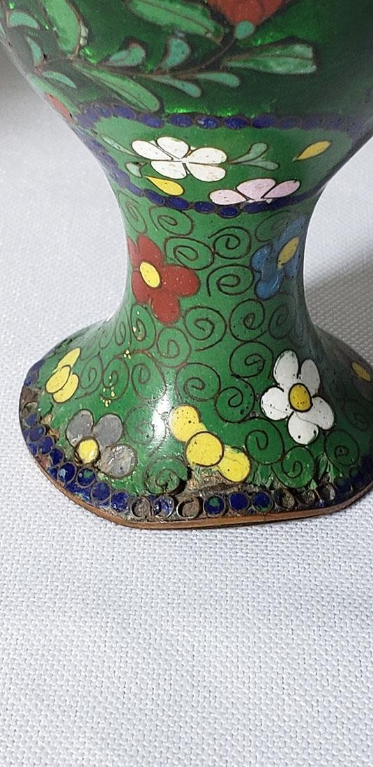 A Pair of Japanese Cloisonne Vases 19 c - 4