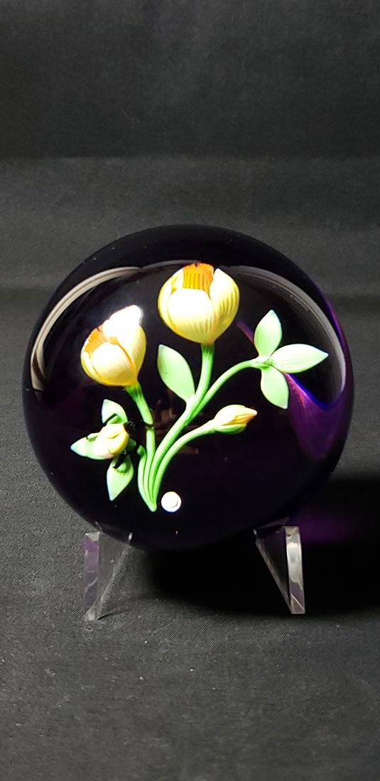 1983 Baccarat Art Glass Paperweight Signed - 7