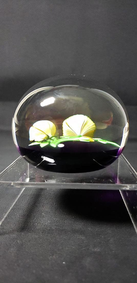 1983 Baccarat Art Glass Paperweight Signed - 8
