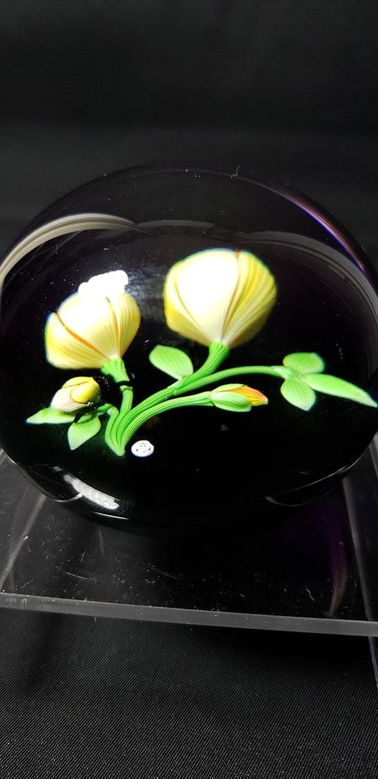 1983 Baccarat Art Glass Paperweight Signed - 9