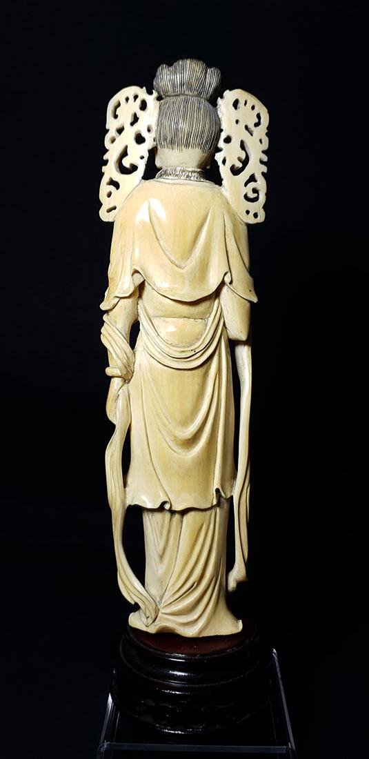 Lg Chinese Carved Kwan Yin Figure in Box 19 c - 10