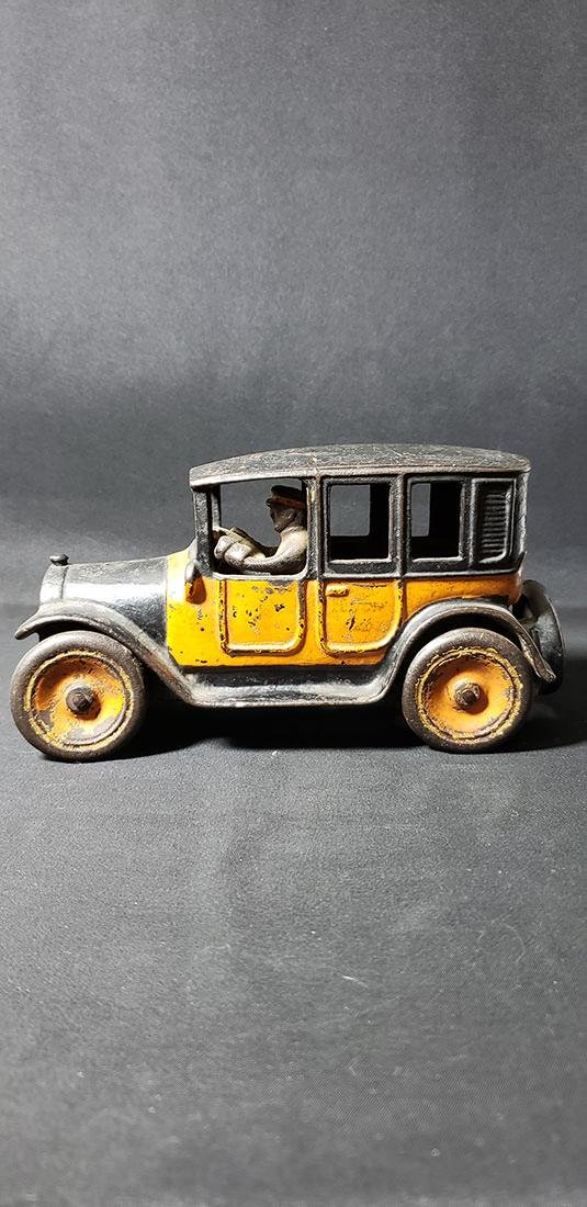 Early Arcade #2 Yellow Cab Cast Iron Toy
