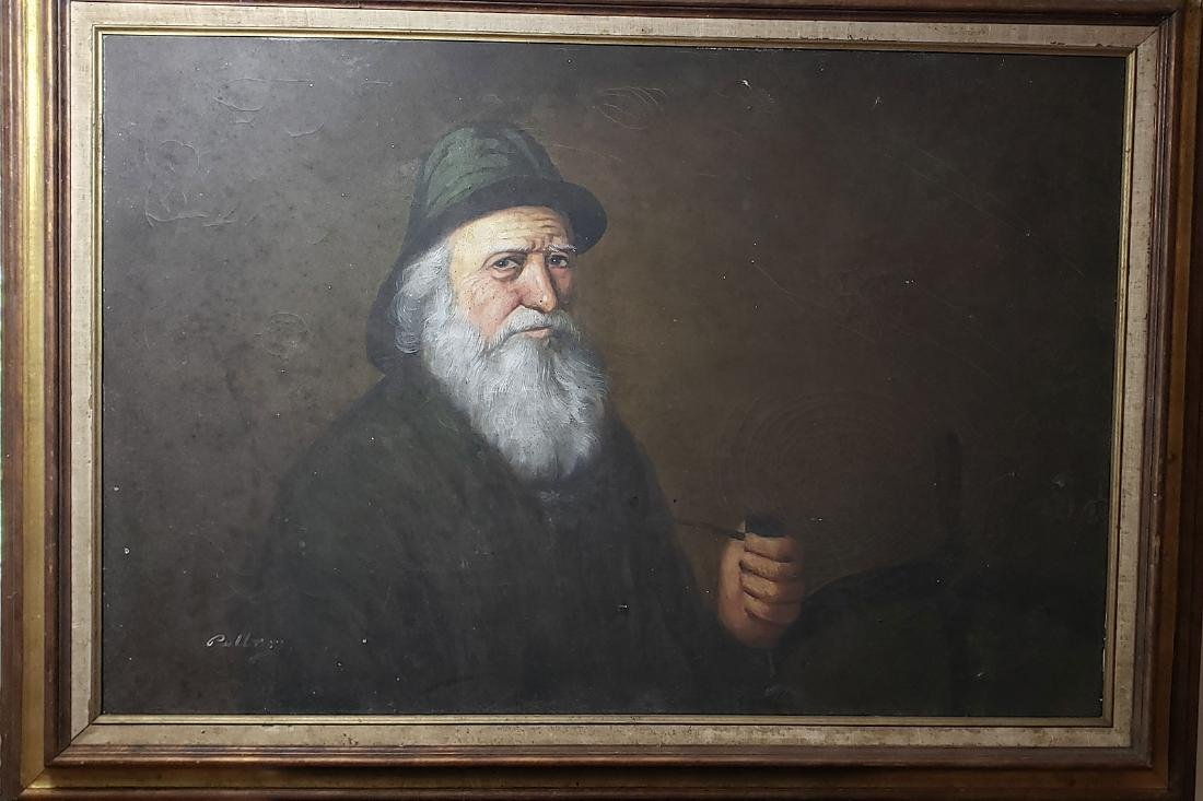 Large Oil Painting of a Captain 20th C
