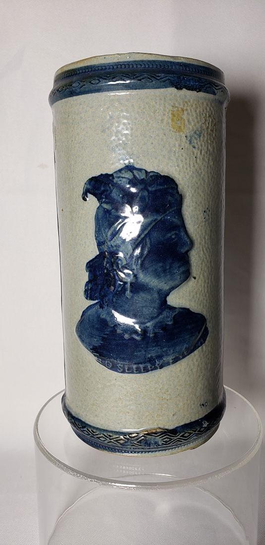 Antique Whites Utica Stoneware Vase