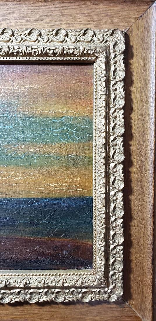 """Albert P Ryder Seascape """"Wrecked"""" Painting Signed - 2"""