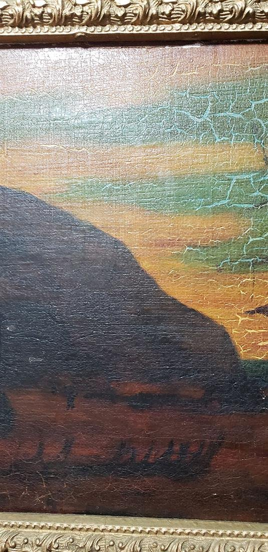 """Albert P Ryder Seascape """"Wrecked"""" Painting Signed - 6"""