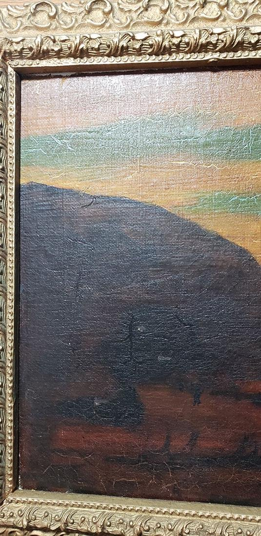 """Albert P Ryder Seascape """"Wrecked"""" Painting Signed - 7"""