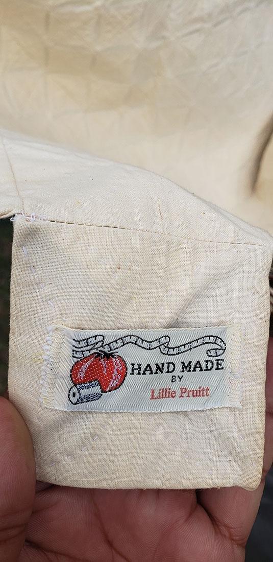 Large Handmade Vintage Cathedral Quilt Lillie Pruitt - 2