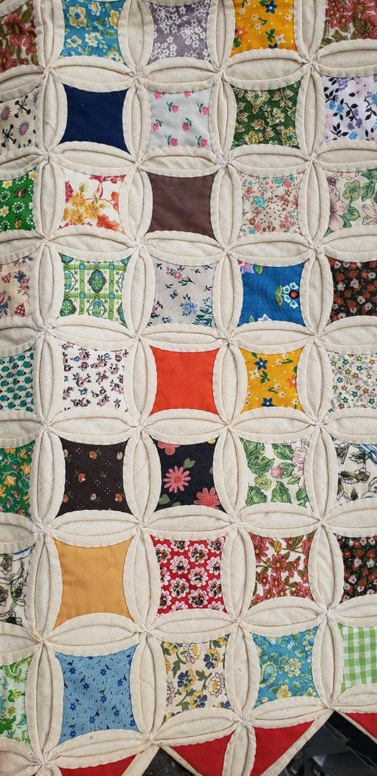 Large Handmade Vintage Cathedral Quilt Lillie Pruitt - 5