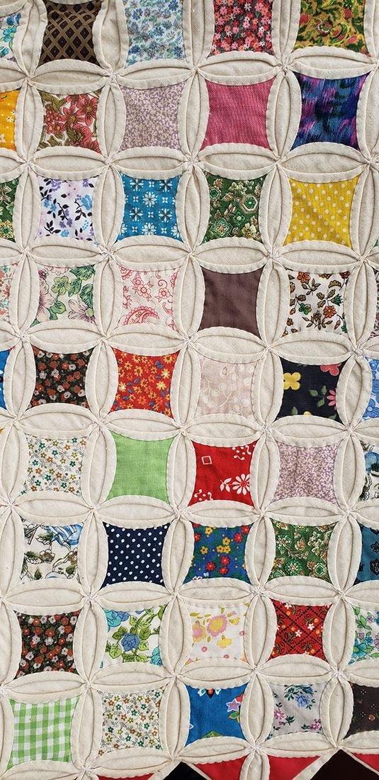 Large Handmade Vintage Cathedral Quilt Lillie Pruitt - 6