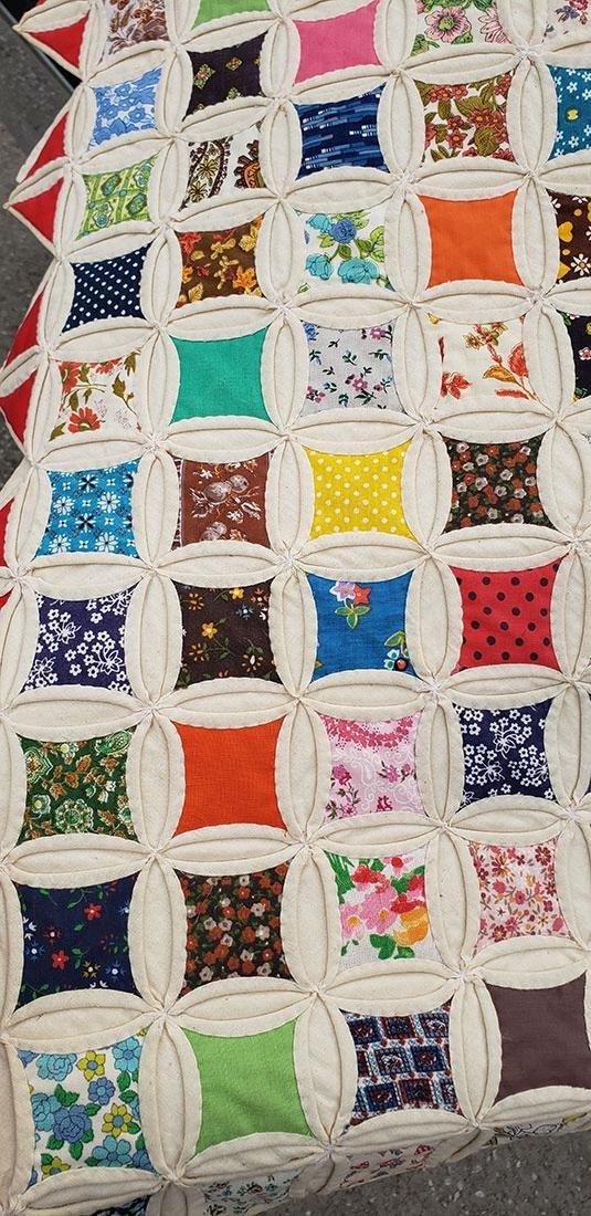 Large Handmade Vintage Cathedral Quilt Lillie Pruitt - 7