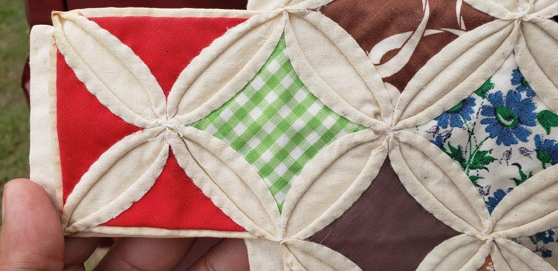 Large Handmade Vintage Cathedral Quilt Lillie Pruitt - 8