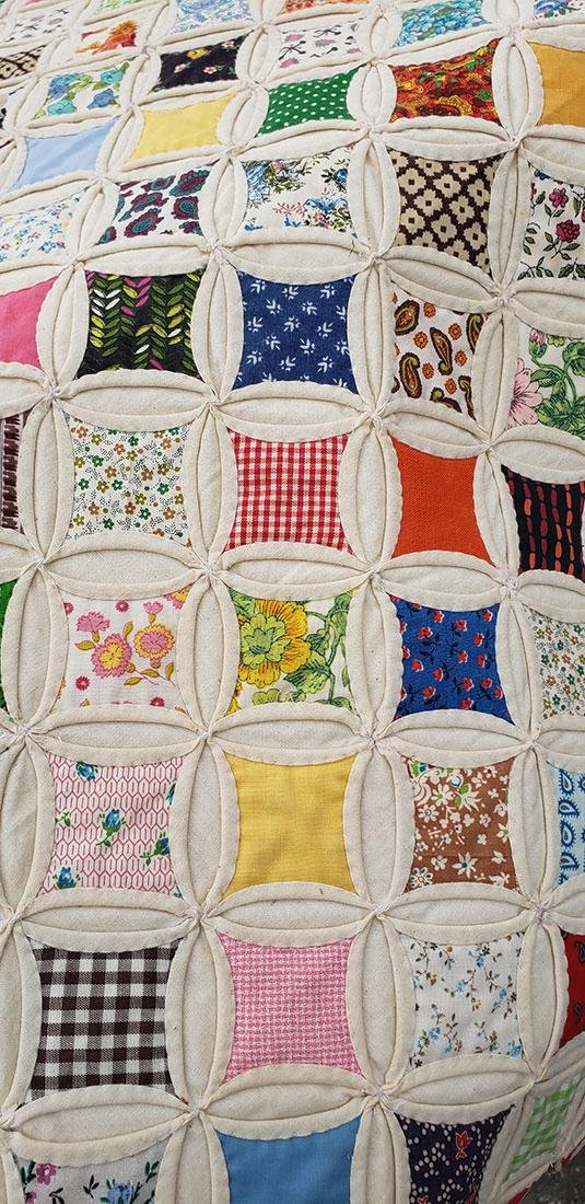 Large Handmade Vintage Cathedral Quilt Lillie Pruitt - 9