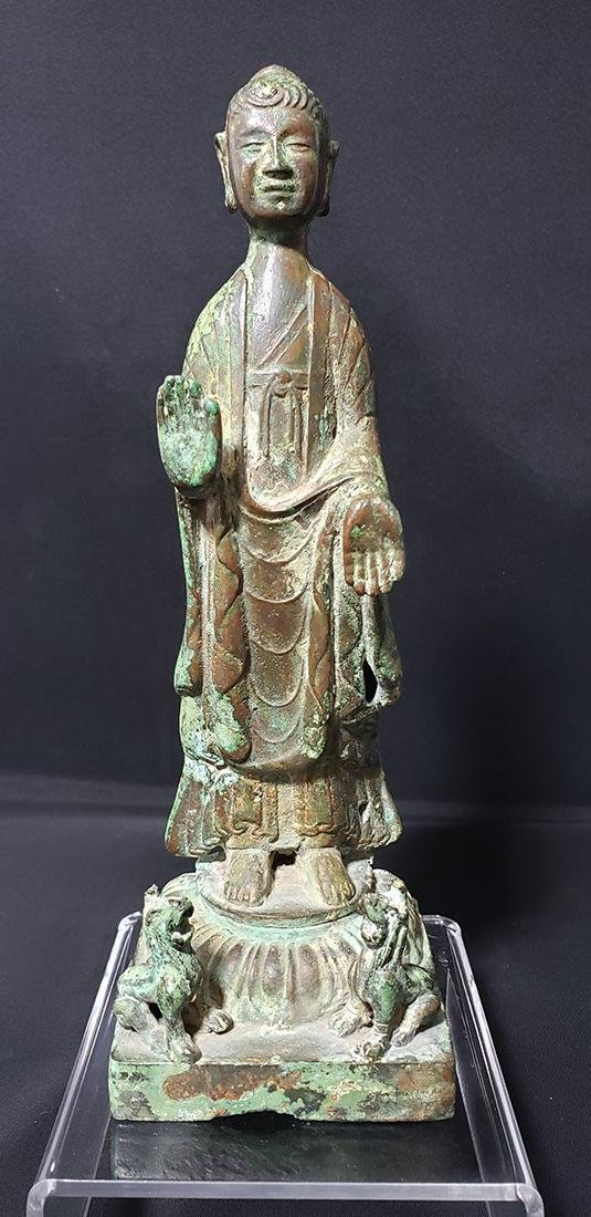 A Fine Antique Chinese Bronze Buddha Sui Dynasty