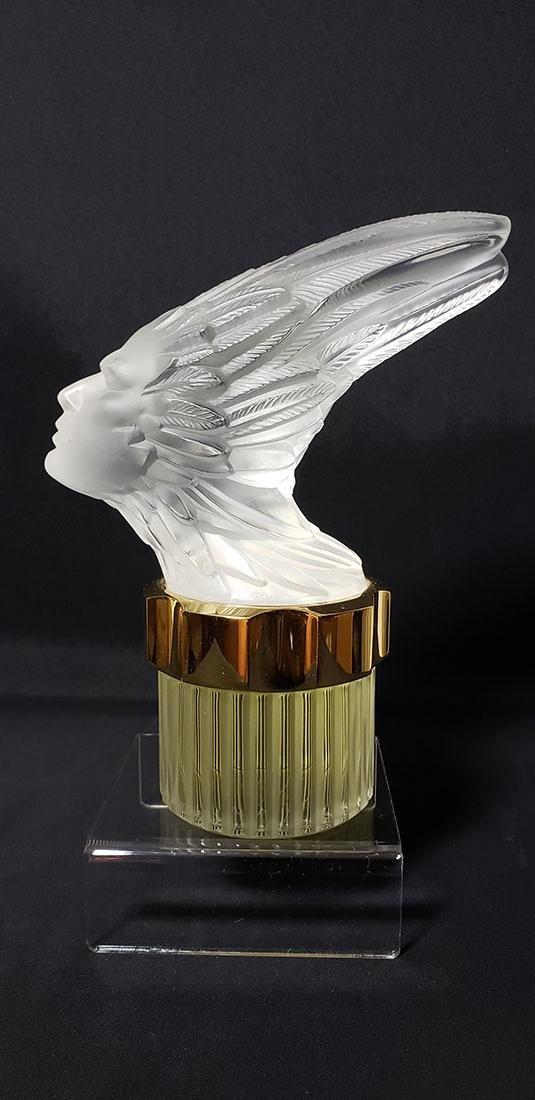 Signed Art Glass Lalique Perfume Bottle