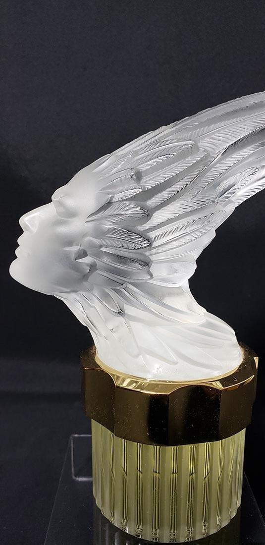 Signed Art Glass Lalique Perfume Bottle - 2