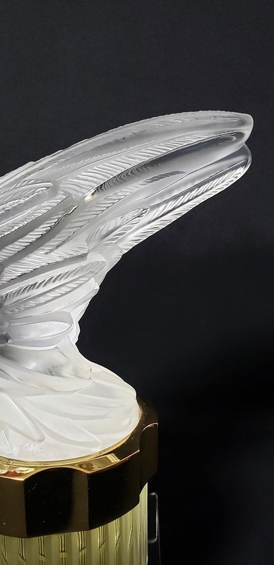 Signed Art Glass Lalique Perfume Bottle - 3