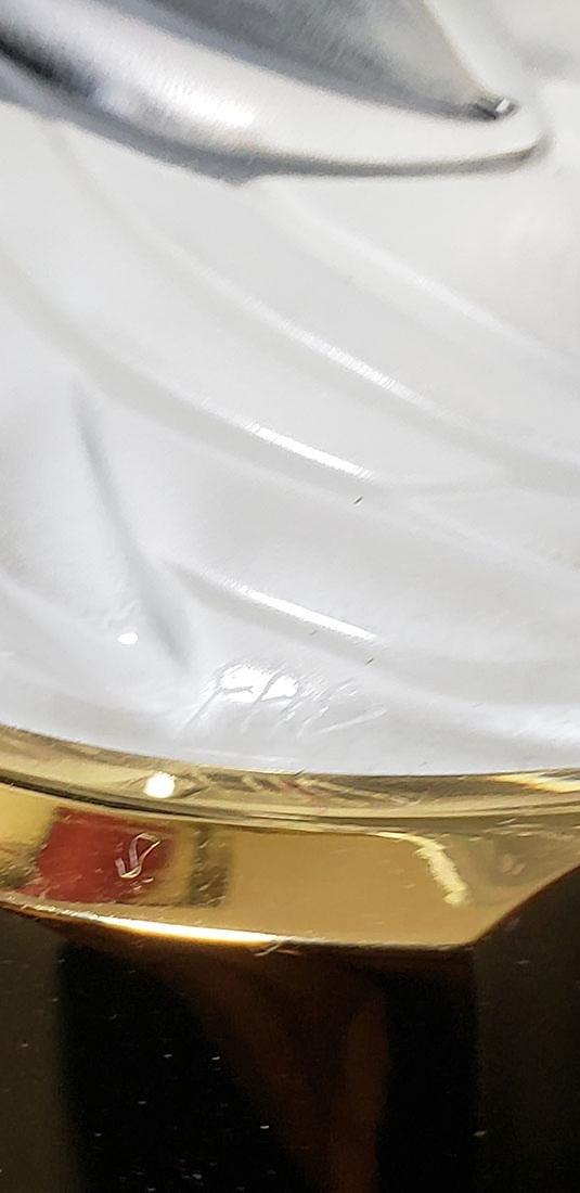 Signed Art Glass Lalique Perfume Bottle - 6