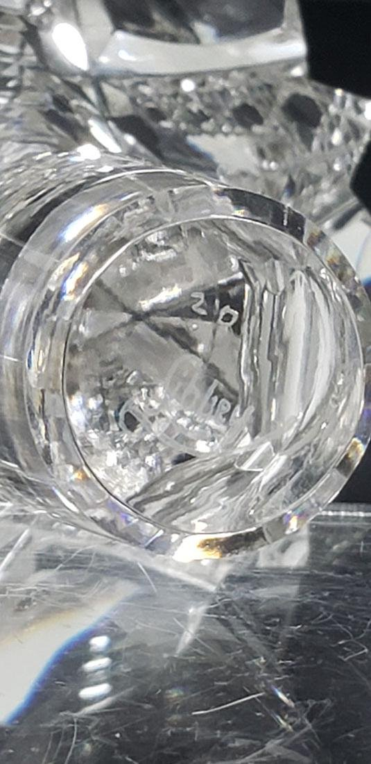 ABP Libbey Cut Glass Decanter w/ Stopper Signed 19 c - 9