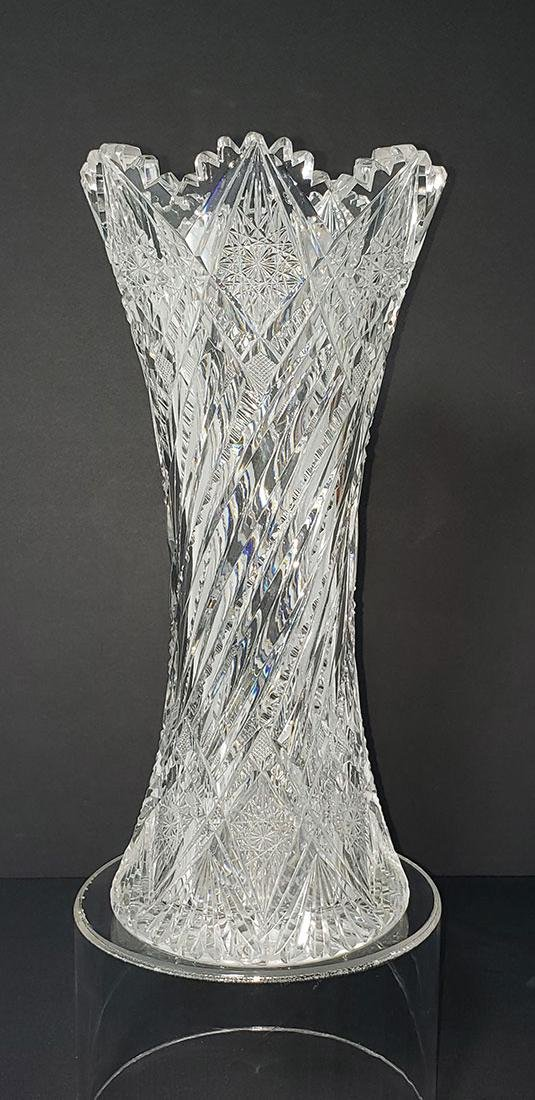 American Brilliant Pd Cut Glass Vase Hawkes Pattern?