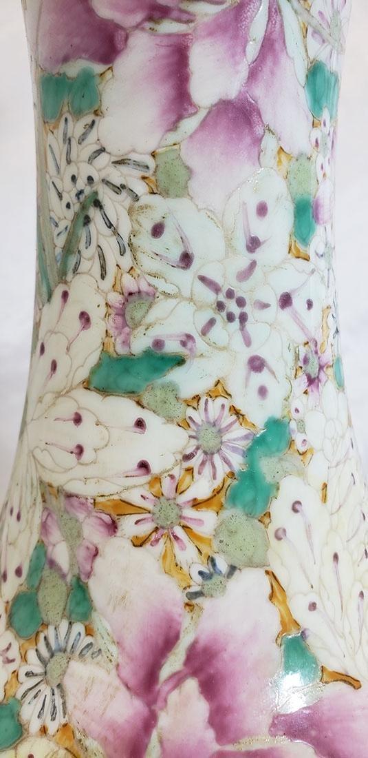A Fine Chinese Famille Rose Millifleur  Vase 19 c - 3