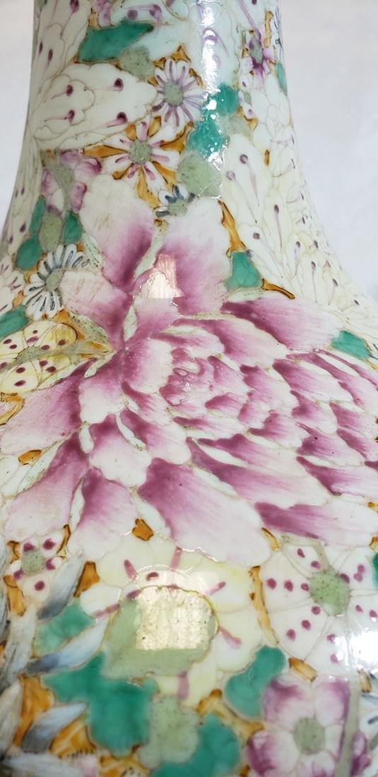 A Fine Chinese Famille Rose Millifleur  Vase 19 c - 4