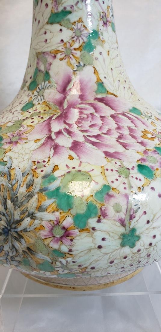 A Fine Chinese Famille Rose Millifleur  Vase 19 c - 5