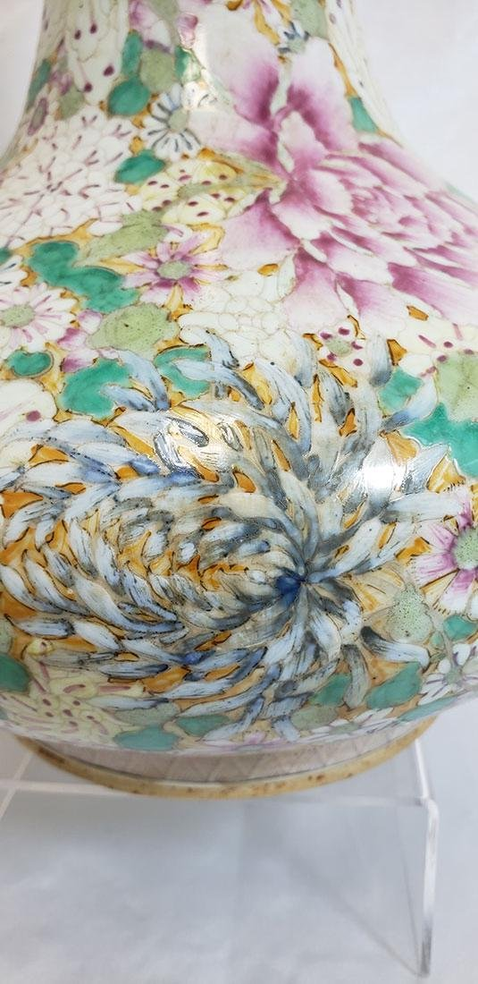 A Fine Chinese Famille Rose Millifleur  Vase 19 c - 6