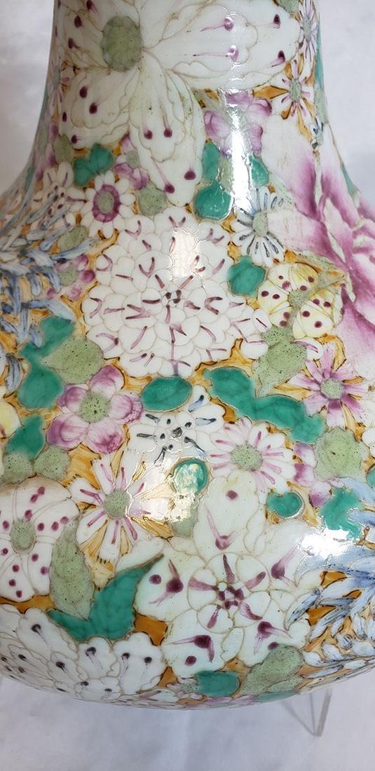 A Fine Chinese Famille Rose Millifleur  Vase 19 c - 7