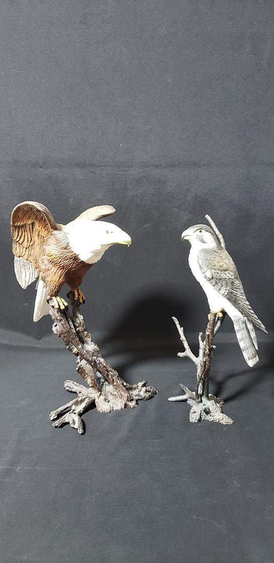 Lot 2 Royal Worcester Painted Bronze Birds