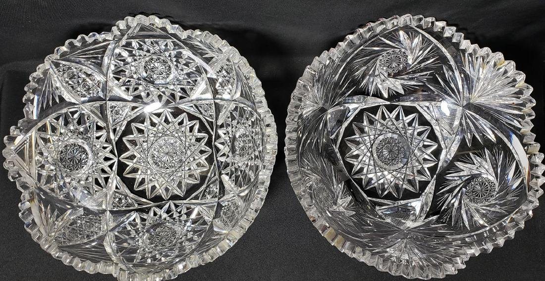 Lot 2 American Brilliant Period  Cut Glass Bowls