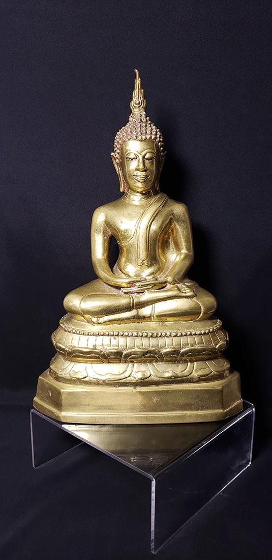 Antique Gilded Bronze Tibetan Buddha 19-20 c