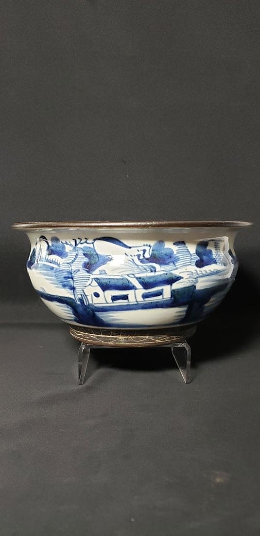 Antique Chinese Blue Porcelain Bowl