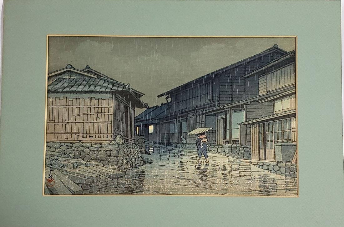 Signed Kawase Hasui Japanese Wood Block Print 19c